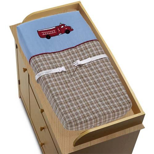 Sweet Jojo Designs Fire Truck Changing Pad Cover - Frankie's