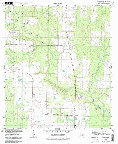- YellowMaps Allentown FL topo map, 1:24000 Scale, 7.5 X 7.5 Minute, Historical, 1994, Updated 1998, 26.9 x 21.9 in - Tyvek