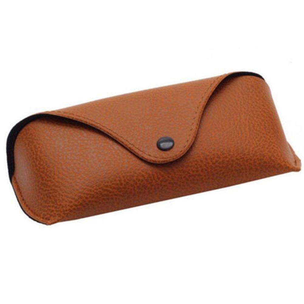 Academyus Unisex Faux Leather Eye Glasses Case Portable Sunglasses Holder Box (Brown)