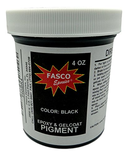 (Black Pigment for Epoxy Resin, Gelcoat, Paint, Latex - 4 oz)