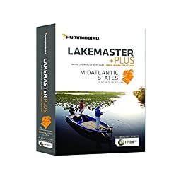 Humminbird Lakemaster Mid Atlantic States Contour Map Software, Black