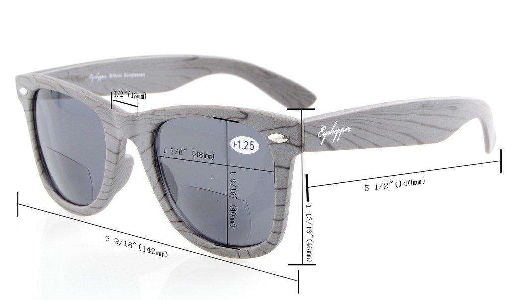 98bf0a5e39f Amazon.com  Eyekepper Brown Stripe Bamboo Wood Design Classic Bifocal Sun  Readers Bifocal Sunglasses +1.0  Health   Personal Care