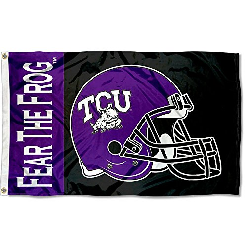 Tcu College Football (TCU Horned Frogs Large Football Helmet 3x5 College Flag)