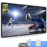 Rhungift 100 inch Portable Projector Screen 16:9 HD Outdoor Portable Foldable Anti-Crease Projection Screen Support Double Sided Projection