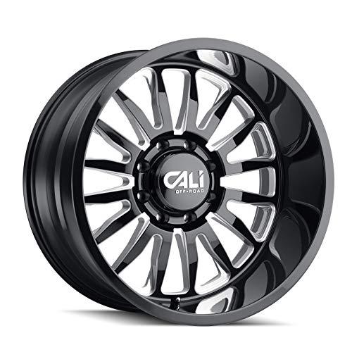 CALI Off Road SUMMIT (9110) GLOSS BLACK/MILLED SPOKES 20X10 6-135 -25mm ()