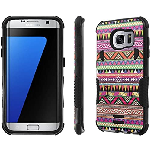 Galaxy S7 Edge Case, [NakedShield] [Black/Black] Combat Tough SHOCK PROOF with KICKStand - [Tirbal Fabric] for Samsung Galaxy S7 Edge / GS7 Sales