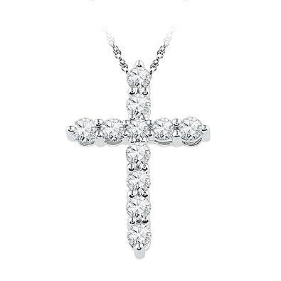 Amazon 10kt white gold womens round diamond cross religious 10kt white gold womens round diamond cross religious pendant 13 cttw i2 aloadofball Image collections