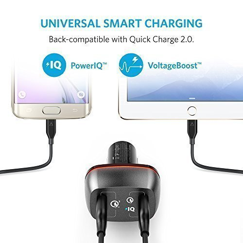 short ask for 30 Anker 42W 2 Port USB automobile Charger PowerDrive 2 together with short ask for 30 and short ask for 20 together with PowerIQ for Galaxy S7 S6 S6 Edge iPhone iPad LG G5 Nexus HTC and extra automobile Chargers