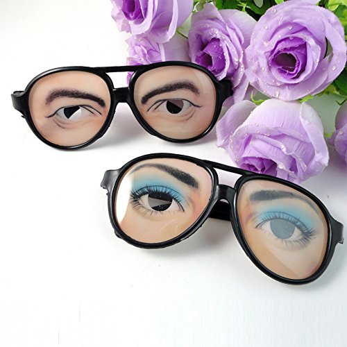FairOnly Men Women Funny Glasses Mischief Eyes Frames Christmas Halloween Party Prank Tool Great