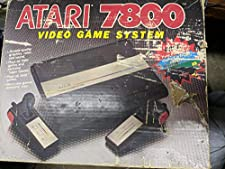 Atari 7800 Video Game System Console Bundle with Pole Position II
