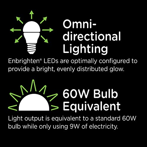 Enbrighten Z-Wave Plus Wireless Smart LED Light Bulb, Dimmable, 60-Watt Equivalent, 2700K Soft White, E26 Base, A19 Style Bulb, 750 Lumens, Hub Required, 35931, Works with Alexa by Enbrighten (Image #6)