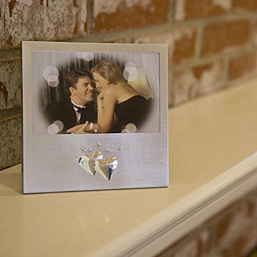 Center Gifts Decorative Silver Double Heart Photo Frame For A Beautiful Gift by Center Gifts