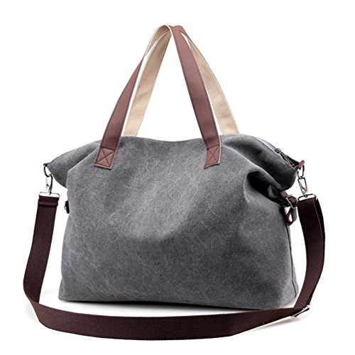 Sanxiner Top Handle Handbag Tote Bag Canvas Crossbody Bags for Women (Gray)