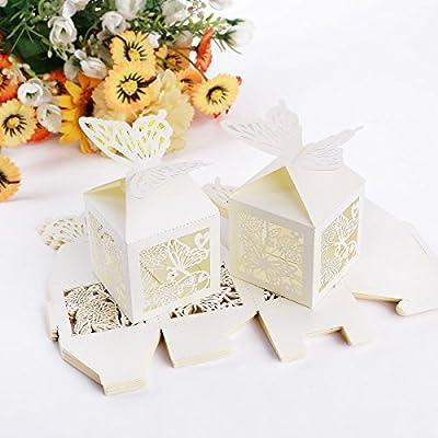 musuntas 50Tlg.Bosquejo de jaula boda Bautizo invitados regalo regalo caja de cartón caja de mesa decorativo ftalatos iere Caja boda Decoración, style 1: Amazon.es: Hogar