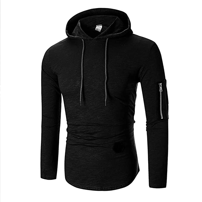 9d4e13d84cf38 DIKEWANG Men's Autumn Mens Hoodies Brand Men Zipper Solid Colour ...