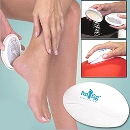 Ped Egg Pedicure Ultimate Foot File Smooth Beautiful Feet Dry Hard Skin Remover