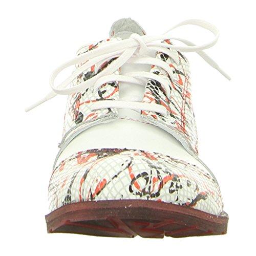 Simen 9218-515/544 - Zapatos de cordones de Piel para mujer weiss 2