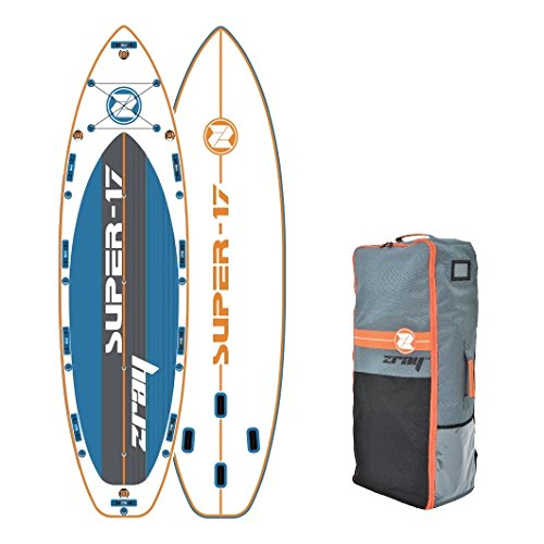 "Z-Ray Super 17' SUP Stand Up Paddle Board Package W/Travel Backpack & Closing Belt, 8"" Thick"