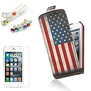 misahouse PU flipcase for Apple iPhone 5C cover case Skin (usa flag)