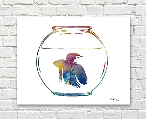 "Raven Abstract Watercolor Painting 11/"" x 14/"" Art Print by Artist DJ Rogers"