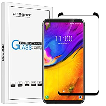 [1 Pack] Orzero for LG V35 Thinq Tempered Glass Screen Protector, 2.5D Arc Edges 9 Hardness HD Anti-Scratch [Full-Coverage] [3D Curved Glass] [Lifetime Replacement Warranty]