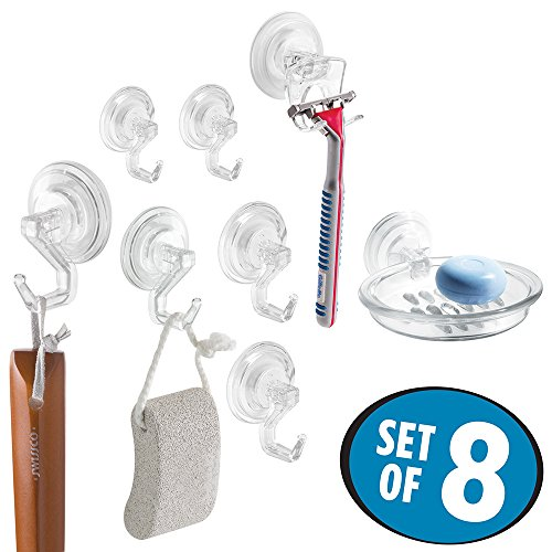 mDesign Suction Bathroom Holder 6 Pack product image
