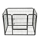 Giantex 4 Panel Pet Puppy Dog Playpen Heavy Duty Door Exercise Kennel Fence (36″) For Sale