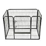 Giantex 4 Panel Pet Puppy Dog Playpen Heavy Duty Door Exercise Kennel Fence (36