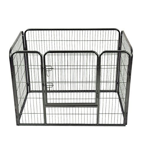 Giantex 4 Panel Pet Puppy Dog Playpen Heavy Duty Door Exercise Kennel Fence (36