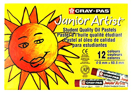 Sakura SAKXEP12 XEP12 12-Piece Cray-Pas Junior Artist Assorted Color Oil Pastel Set, Multicolor