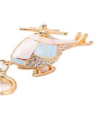 JewelBeauty - Llavero con forma de helicóptero de avión ...