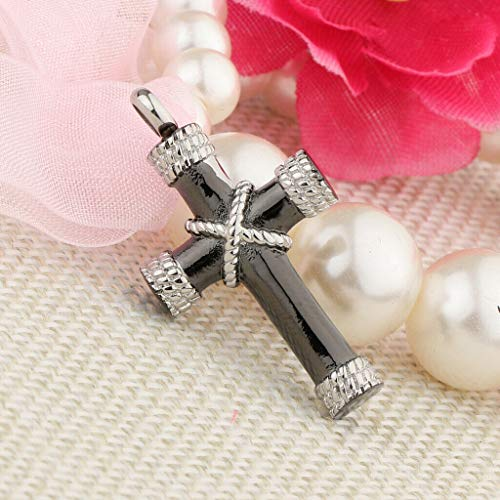 (Crucifix Cross Urn Charm Pendant Cremation Jewelry Pet Memorial Ashes Holder Necklace Jewelry Crafting Key Chain Bracelet Pendants Accessories Best)
