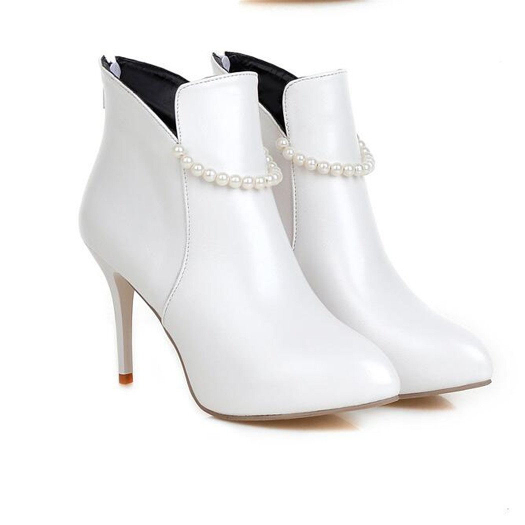 ZQ@QXTipp der und Woche für schlanke und der elegante und vielseitige Plz nach dem blanken Stiefel Damen Stiefel  Weiß d4d4f7