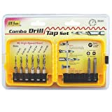 IVY Classic 06020 8-Piece Combo Drill/Tap Bit Set, M2 High-Speed Steel, Sturdy Plastic Case