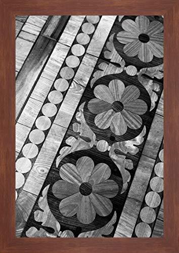 "Intarsia by Karyn Millet - 28"" x 40"" Framed Giclee Canvas Art Print Walnut Finish - Ready to Hang"
