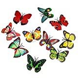 10 PCS LED Stick-on Butterfly Night Lights Decoration Mood Light for Festival Party Birthday Wedding Xmas Nursery Bedroom Door Window Random Color