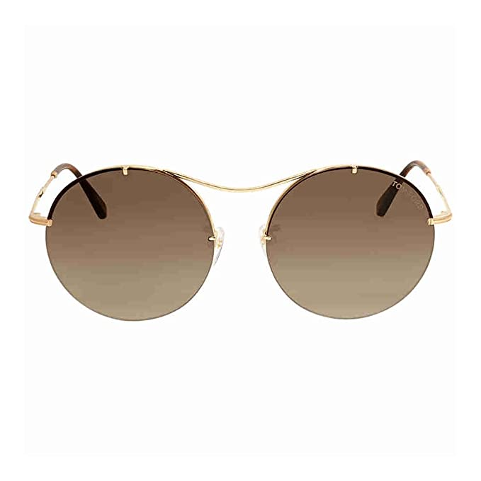 a3c20c0518a Tom Ford Georgina Brown Gradient Round Sunglasses FT0565 28F  Amazon.ca   Clothing   Accessories