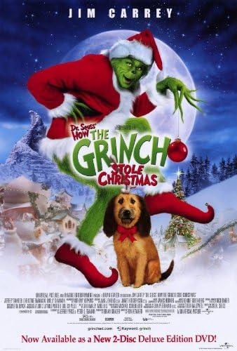 Amazon.com: Dr. Seuss' How The Grinch Stole Christmas Movie Poster (27 x 40  Inches - 69cm x 102cm) (2000) Style C -(Jim Carrey)(Jeffrey  Tambor)(Christine Baranski)(Taylor Momsen)(Molly Shannon)(Josh Ryan Evans):  Prints: Posters &