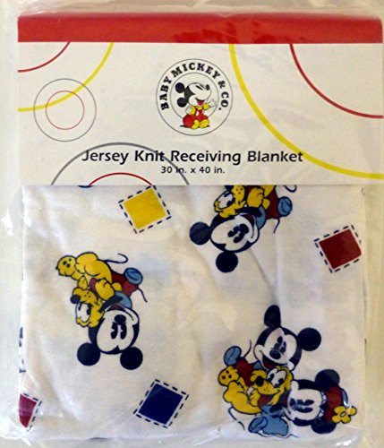 Disney Baby Mickey & Co. Jersey Knit Receiving Blanket (Cotton Jersey Receiving Blanket)