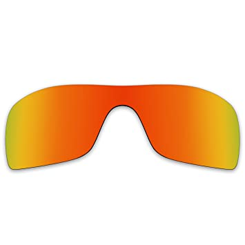 acompatible gafas de sol lentes de repuesto para Oakley Batwolf OO9101, Fire Red Mirror -