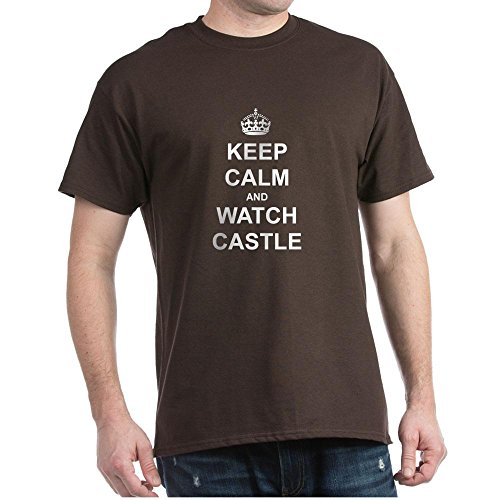 (CafePress Keep Calm And Watch Castle - 100% Cotton T-Shirt)