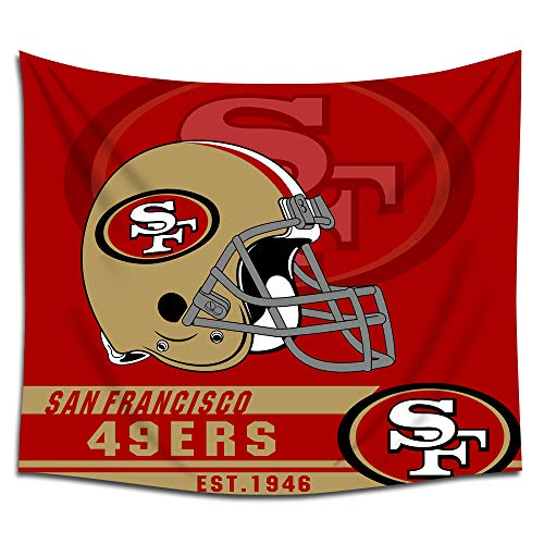 (Jacoci San Francisco 49ers Wall Tapestry Hanging Cool Design for Bedroom Living Room Dorm Handicrafts Curtain Home Decor Size 50x60 Inches)