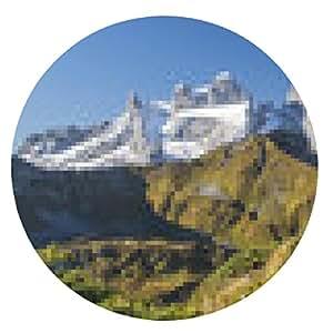 alfombrilla de ratón Senderismo en los Alpes - ronda - 20cm