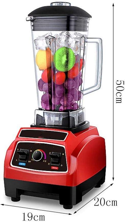 Batidora para Smoothie/Máquina de mezcla de hielo multifunción de salida, Máquina de leche de soja, Exprimidor de la tienda de té, Máquina de ebullición, Máquina de hielo, 1600W / 2L: Amazon.es