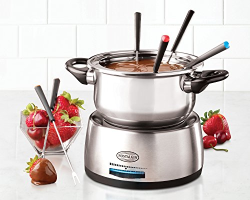Nostalgia Fps200 6 Cup Stainless Steel Electric Fondue Pot