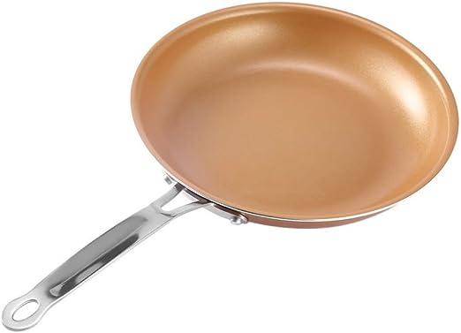 Antiadherente redondo de cobre sartén con revestimiento de ...