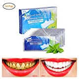Teeth Whitening Strips, 3D White Whitestrips with Mint Flavor for Gum Health and Refresh Breath, Dental Whitener Kit Elastic Gels for Teeth Stain Removal - 14 pouches 28pcs