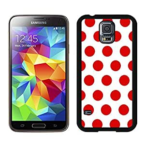 Popular Samsung Galaxy S5 Case Polka Dot White and Red Soft TPU Rubber Black Phone Cover Speck Mobile Accessories