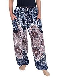 Lannaclothesdesign Women's Drawstring Harem Pants Sweat Trousers Hippie Style