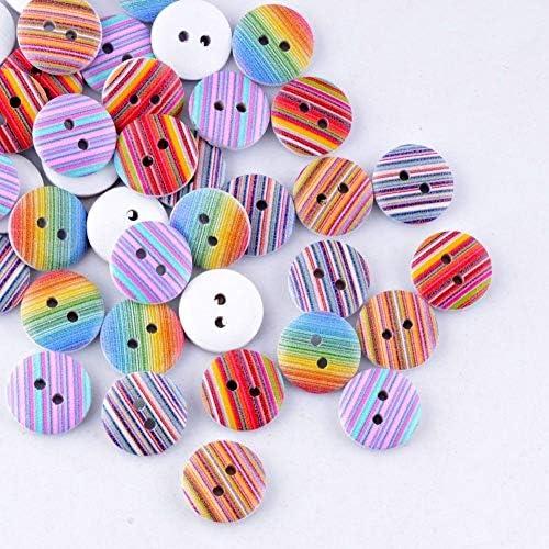 Yitang DIYの縫製装飾用の絵画15ミリメートルをスクラップブッキング縫製ボタンの絵画20枚エコ絵画ランダムミックスマルチ